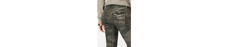 Blue Monkey Skinny-fit-Jeans LILLY, mit Glanzoptik veredelt