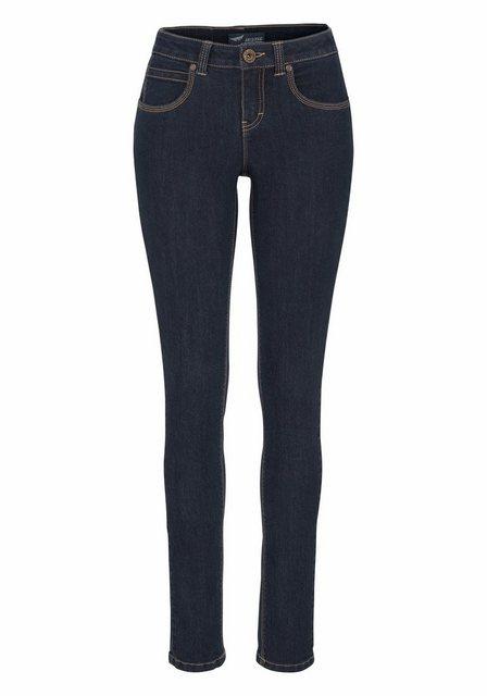Hosen - Arizona Skinny fit Jeans »Shaping« Mid Waist › blau  - Onlineshop OTTO