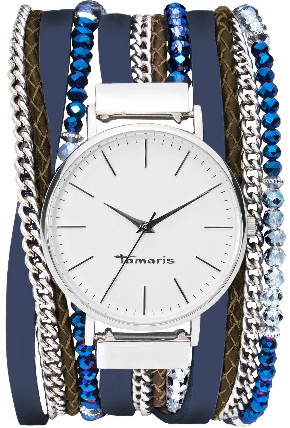 Tamaris Quarzuhr »E06019420«, mit Wickelband