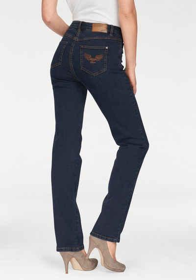 Jeans mit gummizug am bein damen