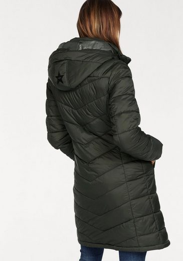 Kangaroos Quilted Jacket, In A Trendy Long Form