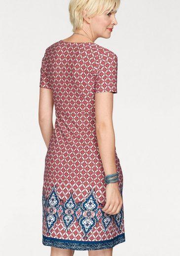 Boysen's Jerseykleid, mit tollem Bordürendruck