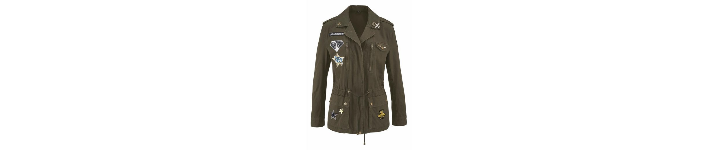 Blue Monkey Military-Blazer, im Militarylook mit Badges und Pins