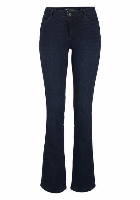 Hosen - Arizona Bootcut Jeans »mit Thermo Effekt« High Waist › blau  - Onlineshop OTTO