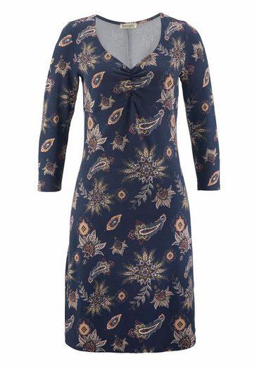 Boysen's A-Linien-Kleid, mit floralem Allover-Druck