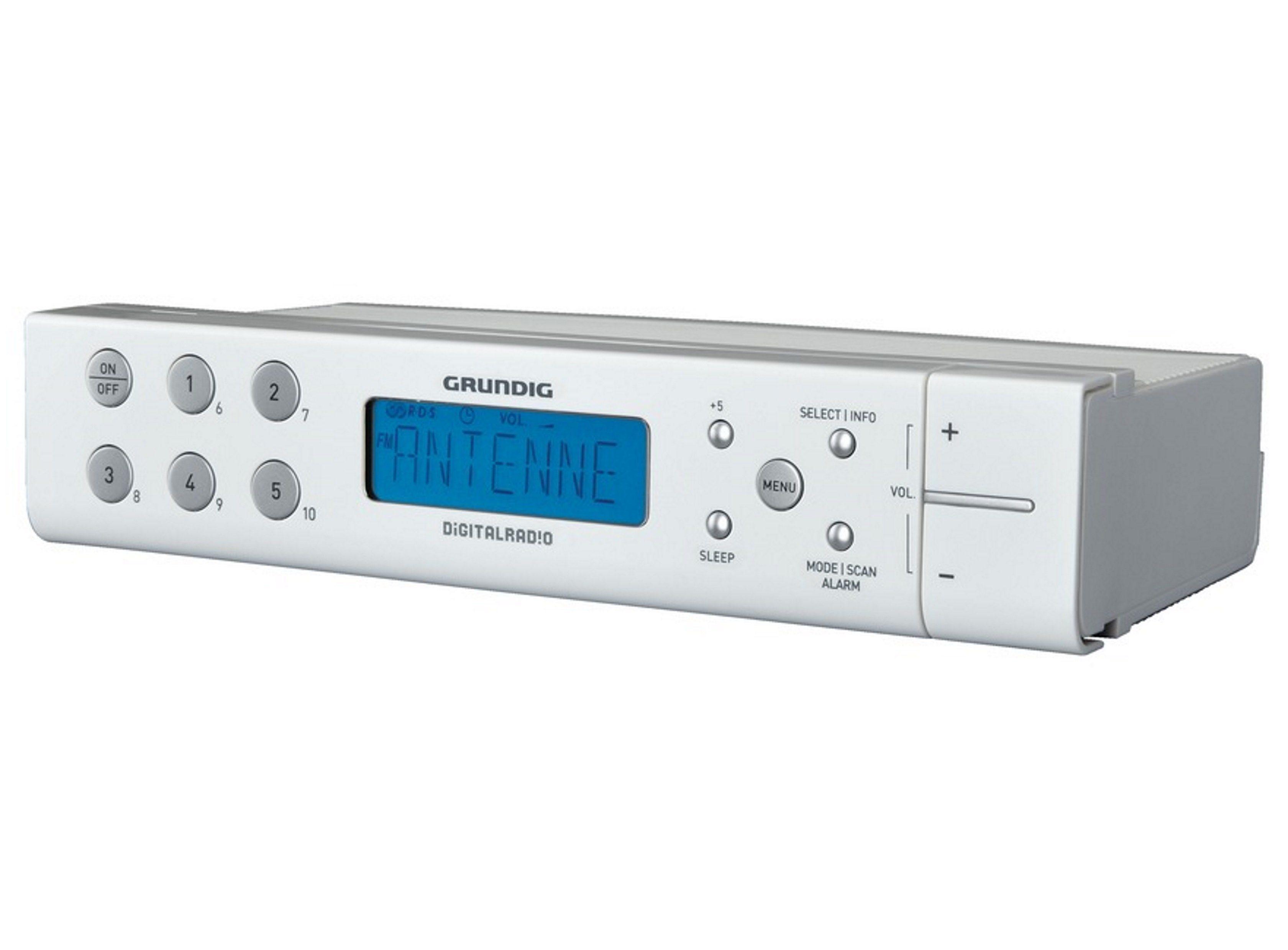 Grundig Uhrenradio mit Unterbau-Zubehör für Küchenschränke »Sonoclock 691«