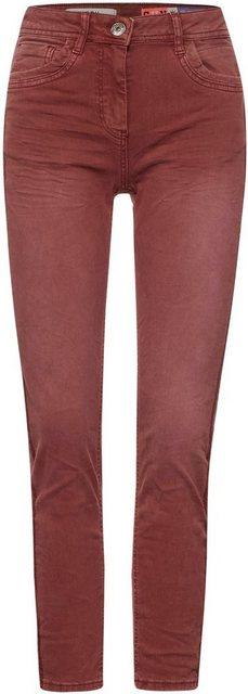 Hosen - Cecil Slim fit Jeans »Style Toronto« mit Stickereien auf der Seite › braun  - Onlineshop OTTO