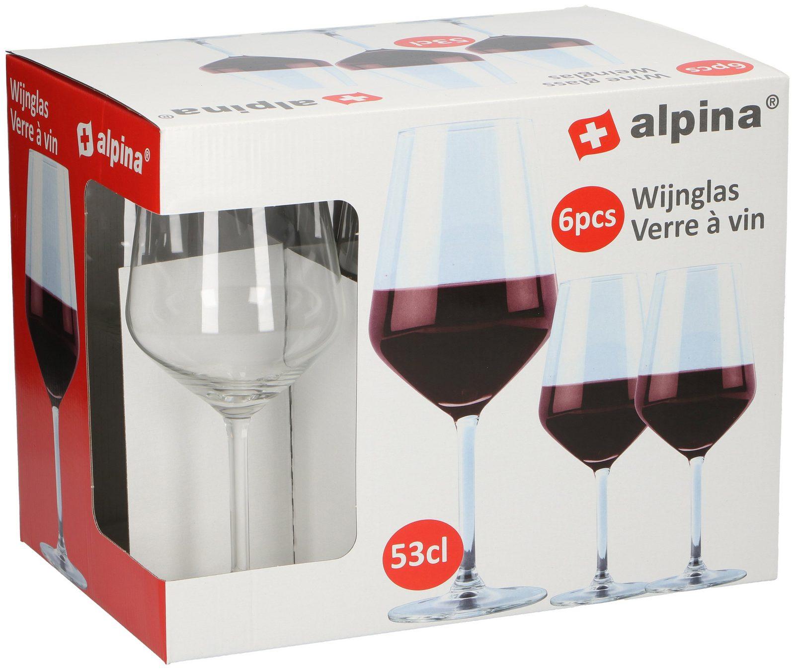Alpina Rotweinglas 6er-Set »Alpina«