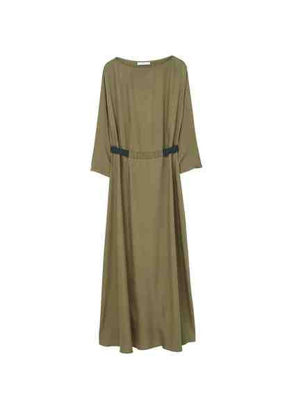 MANGO Kleid mit kontrastierender Taille