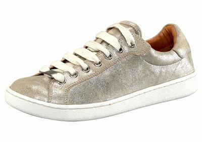 UGG »Tye Stardust« Sneaker, im trendy Metallic-Look, silberfarben, silberfarben