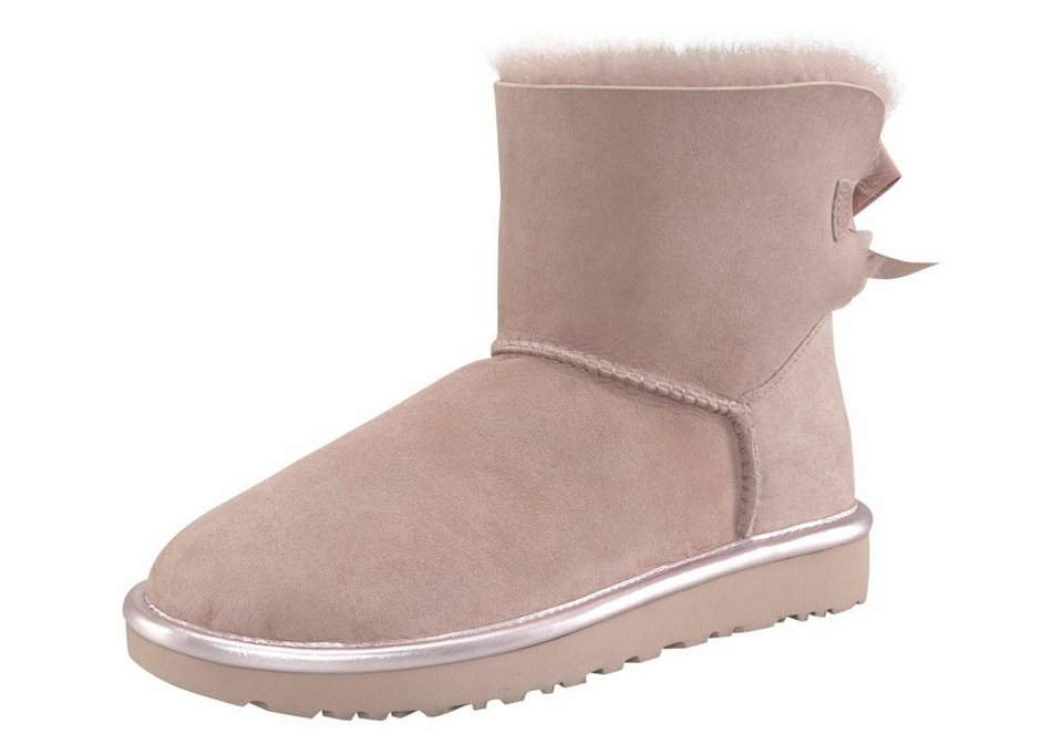 ugg mini bailey bow2 metallic winterboots mit kleiner satinschleife online kaufen otto. Black Bedroom Furniture Sets. Home Design Ideas