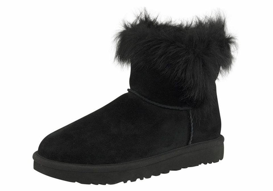 ugg milla winterboots mit puscheligem schafsfell besatz online kaufen otto. Black Bedroom Furniture Sets. Home Design Ideas