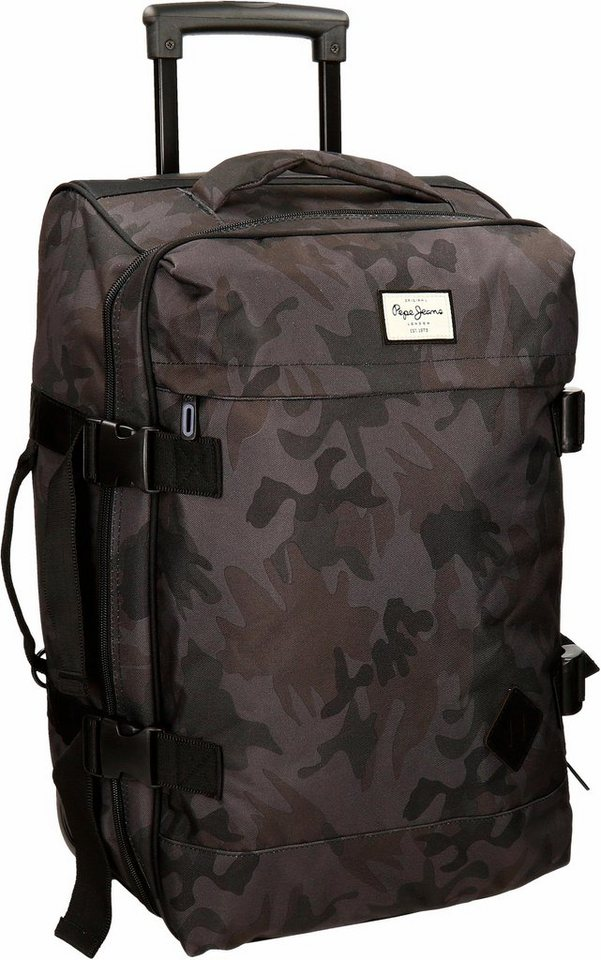 pepe jeans reisetasche mit 2 rollen soft camo otto. Black Bedroom Furniture Sets. Home Design Ideas