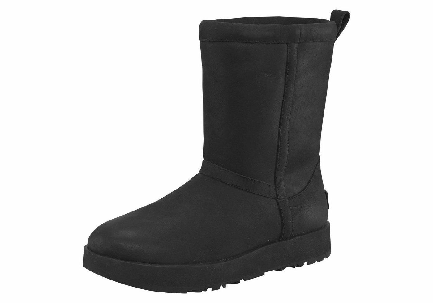 UGG »Classic Short Leather Waterproof« Winterboots in klassischer Form | Schuhe > Stiefel > Winterstiefel | Schwarz | UGG
