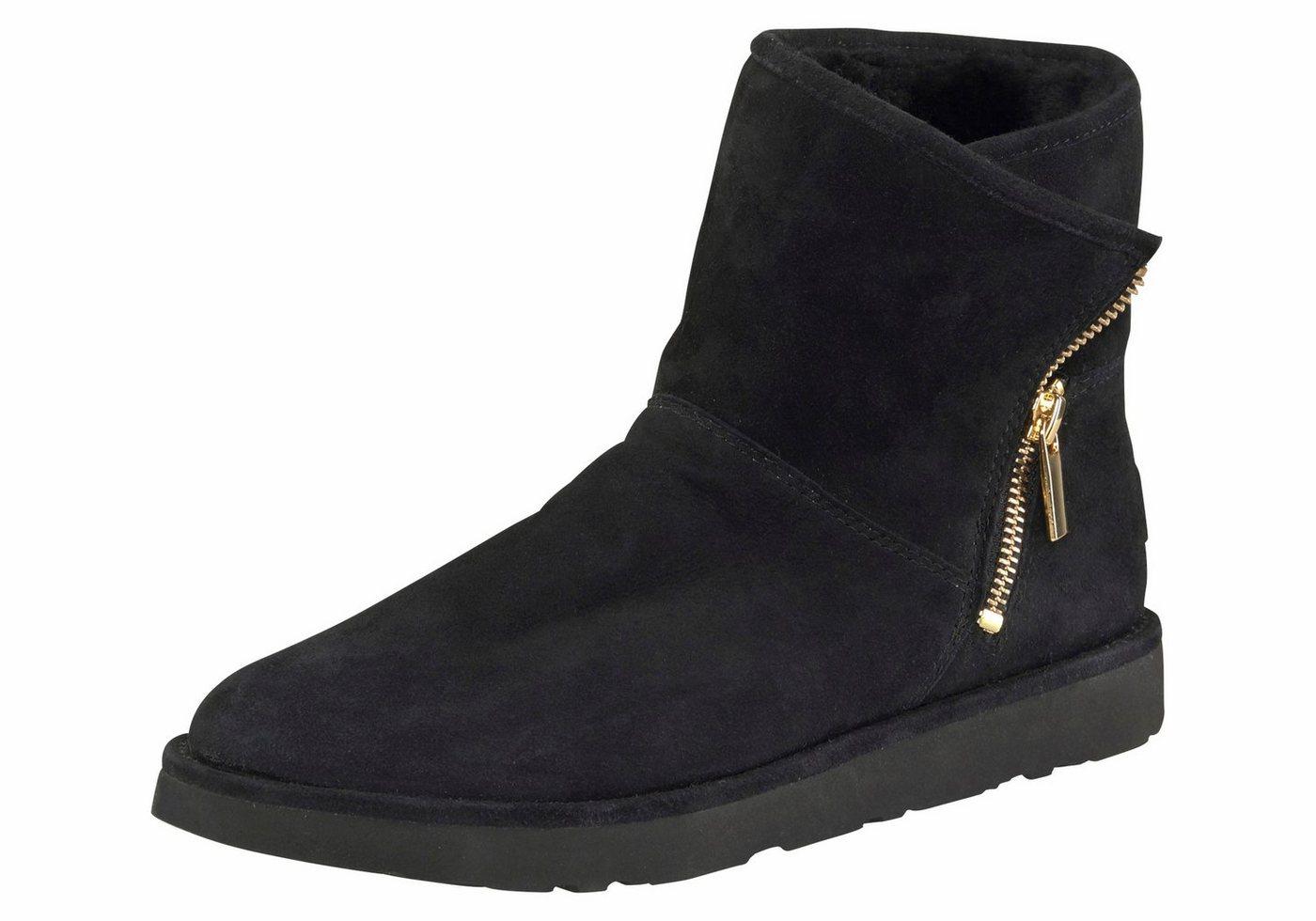 UGG »Kip« Winterboots mit trendy Reißverschluss am Schaft | Schuhe > Boots > Winterboots | Schwarz | UGG