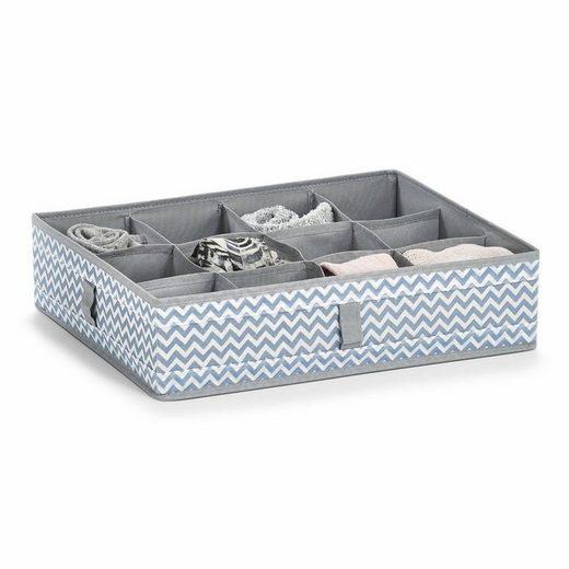 Zeller Aufbewahrungsbox, 12 Fächer, Vlies, weiß/grau 44x34x11