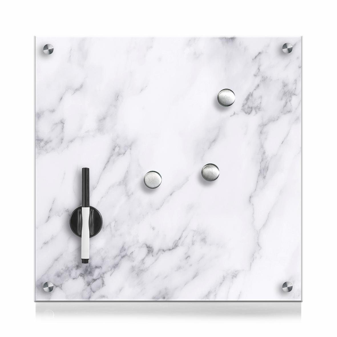 Zeller Memobord »Marmor«, Glas 40x40