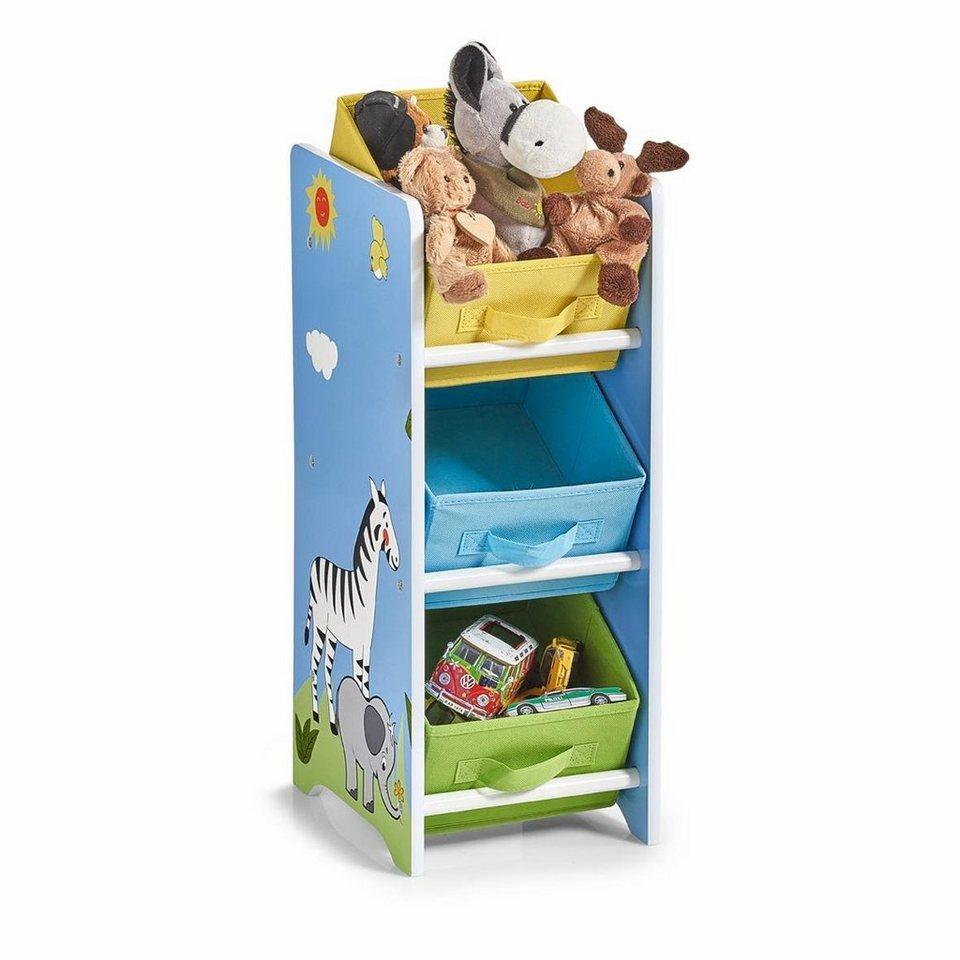 Eckregal Kinderzimmer | Zeller Kinder Regal M Vliesboxen Safari Kaufen Otto