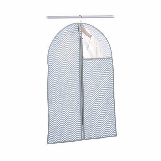 Zeller Present Kleiderschutzhülle Vlies, weiß/grau