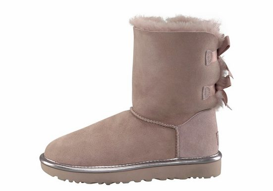 Ugg Bailey Bow 2 Metallic Winter Boots, With Beautiful Satin Grind