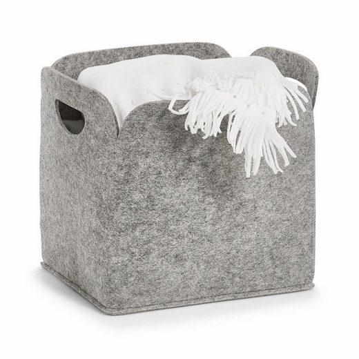 Zeller Present Aufbewahrungsbox, hoch, Filz, 30x24x30