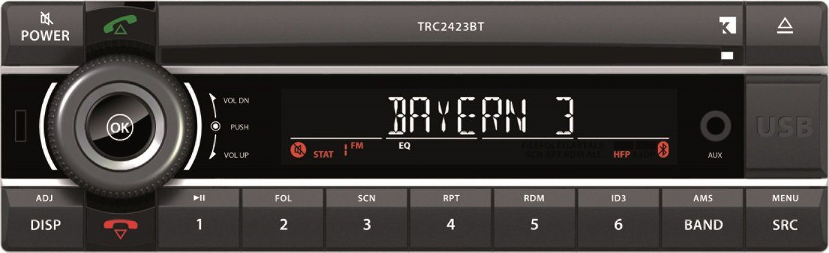 Axion Autoradio »TRC 2423 BT (1DIN 24V)«