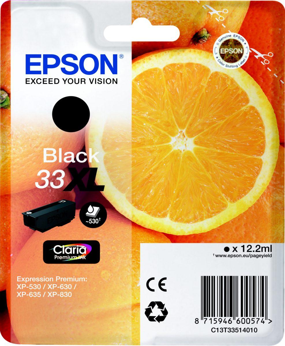 Epson Tintenpatrone »33XL (BK) (ca.530 S.)«
