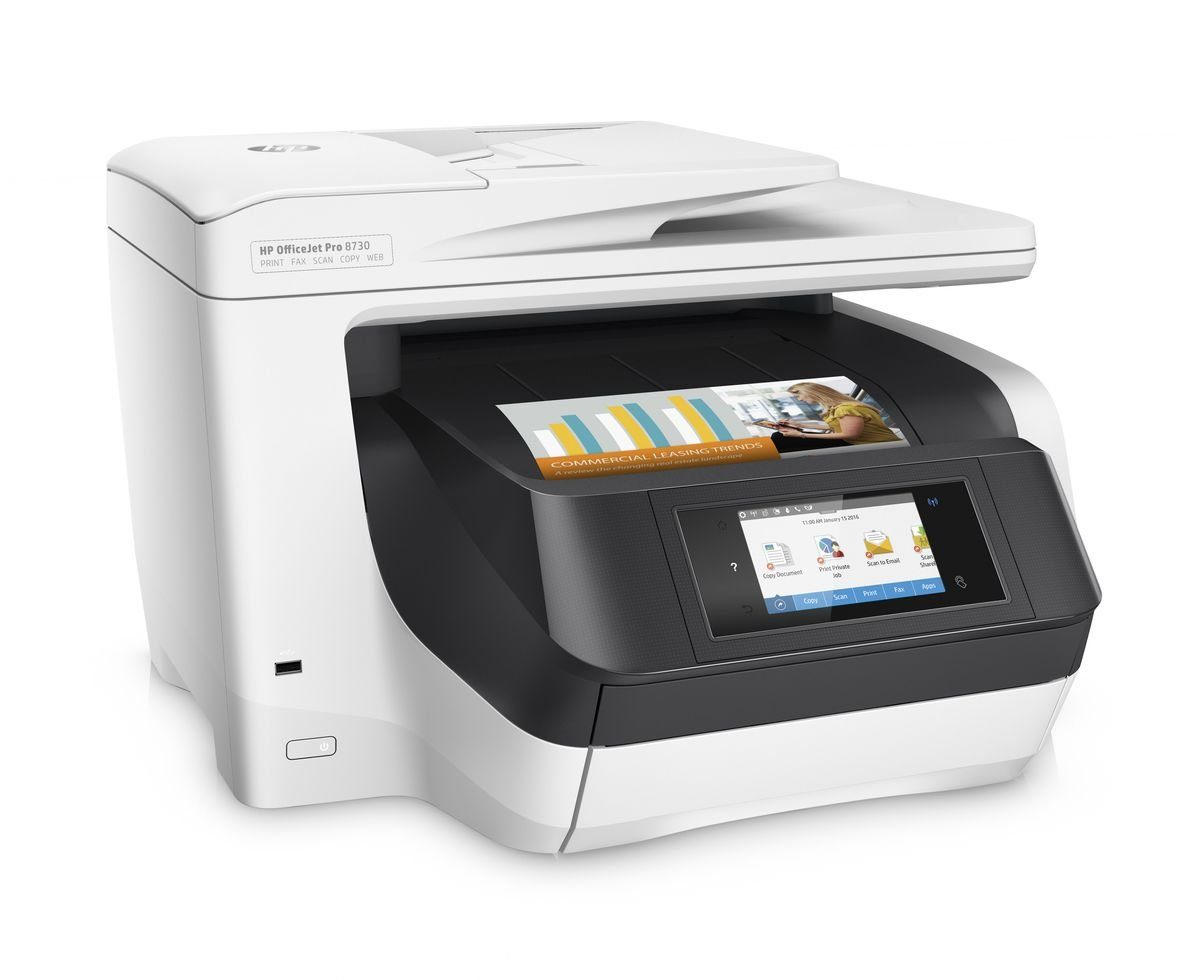 HEWLETT-PACKARD Multifunktionsdrucker »OfficeJet Pro 8730 All-in-One 4in1«