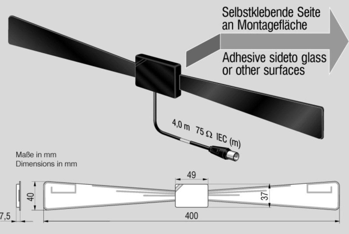 Antenne Bad Blankenburg Antenne »DVB-T/T2 Antenne für Indoor-Versorgung B III«