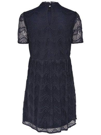 Only Spitzen- Kleid mit kurzen Ärmeln