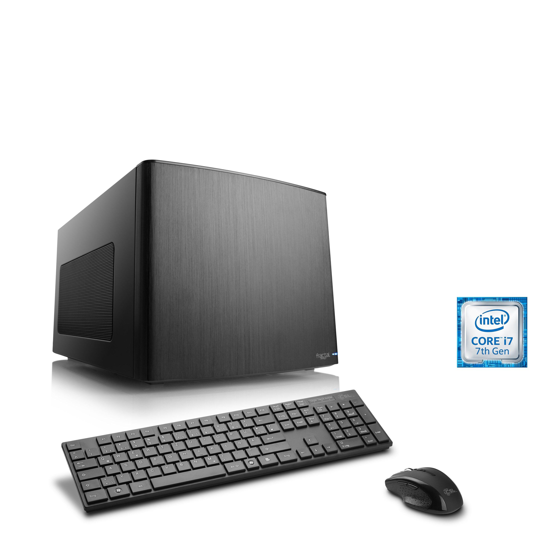 CSL Mini-ITX PC | Core i7-7700K | GTX 1080 | 16 GB DDR4 | SSD »Gaming Box T7673 Wasserkühlung«