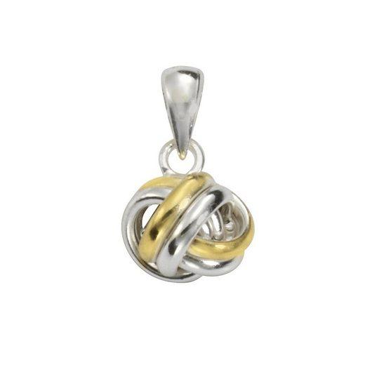 Vivance Anhänger »925/- Sterling Silber rhodiniert Knoten bi-color«