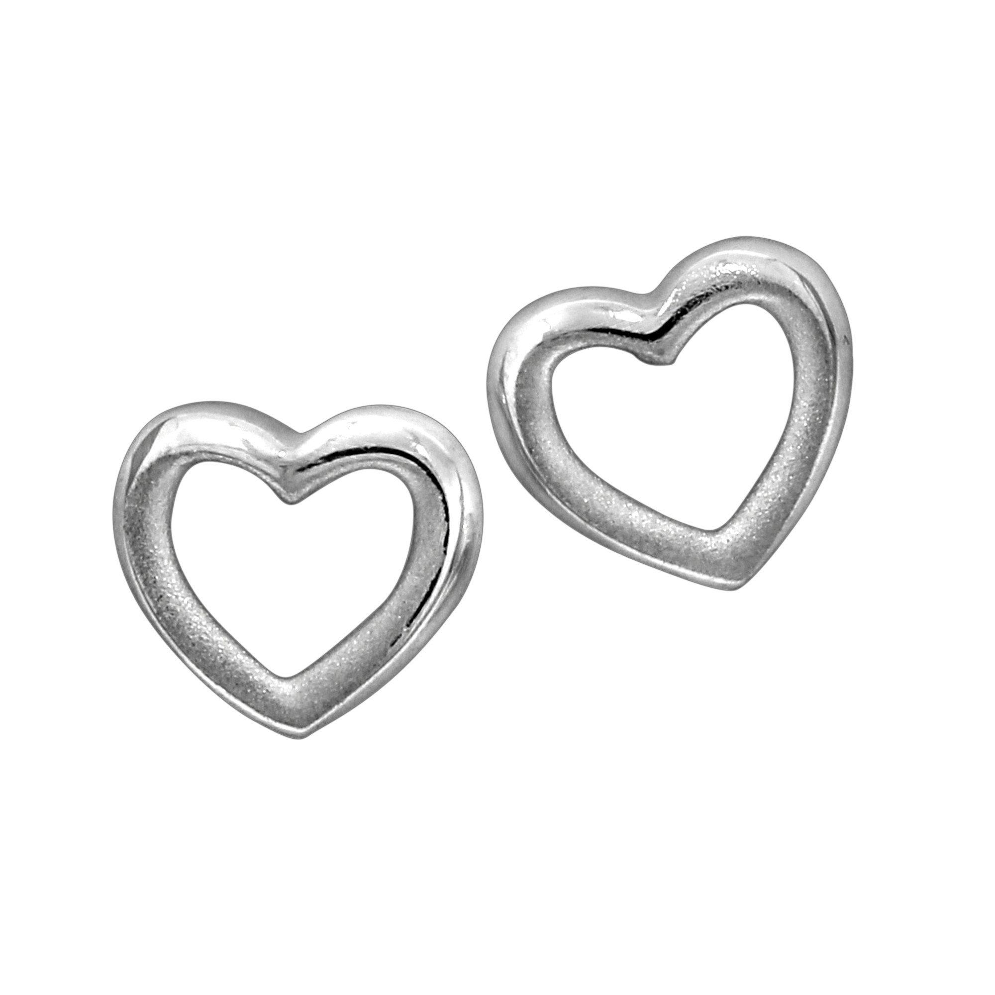 Firetti Ohrstecker »925/- Sterling Silber rhodiniert Herz«