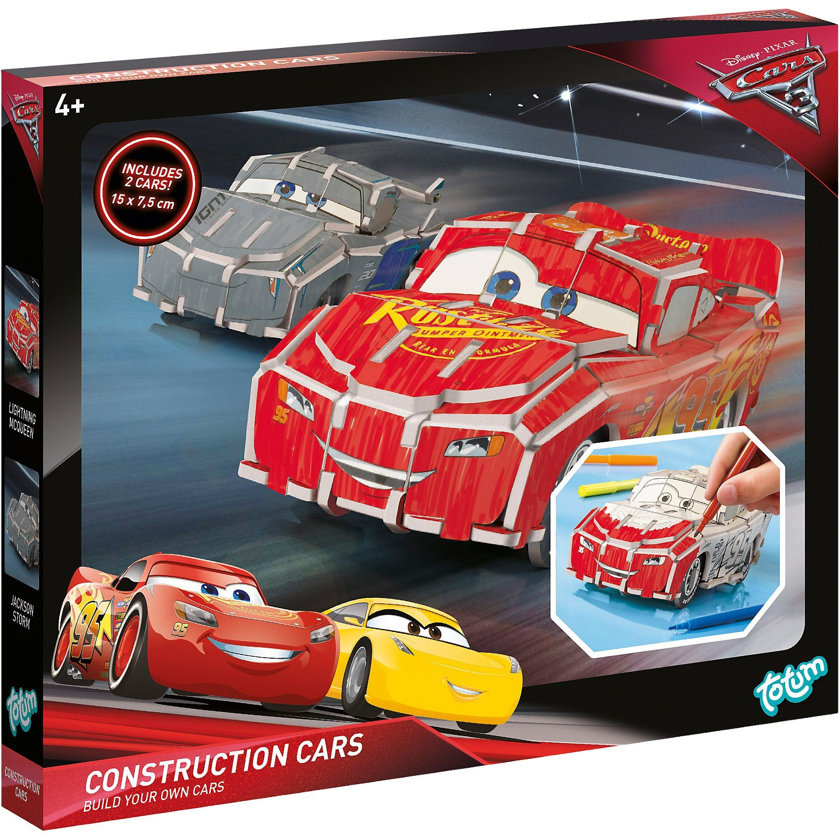 TOTUM Cars 3 Construction Cars Kreativset