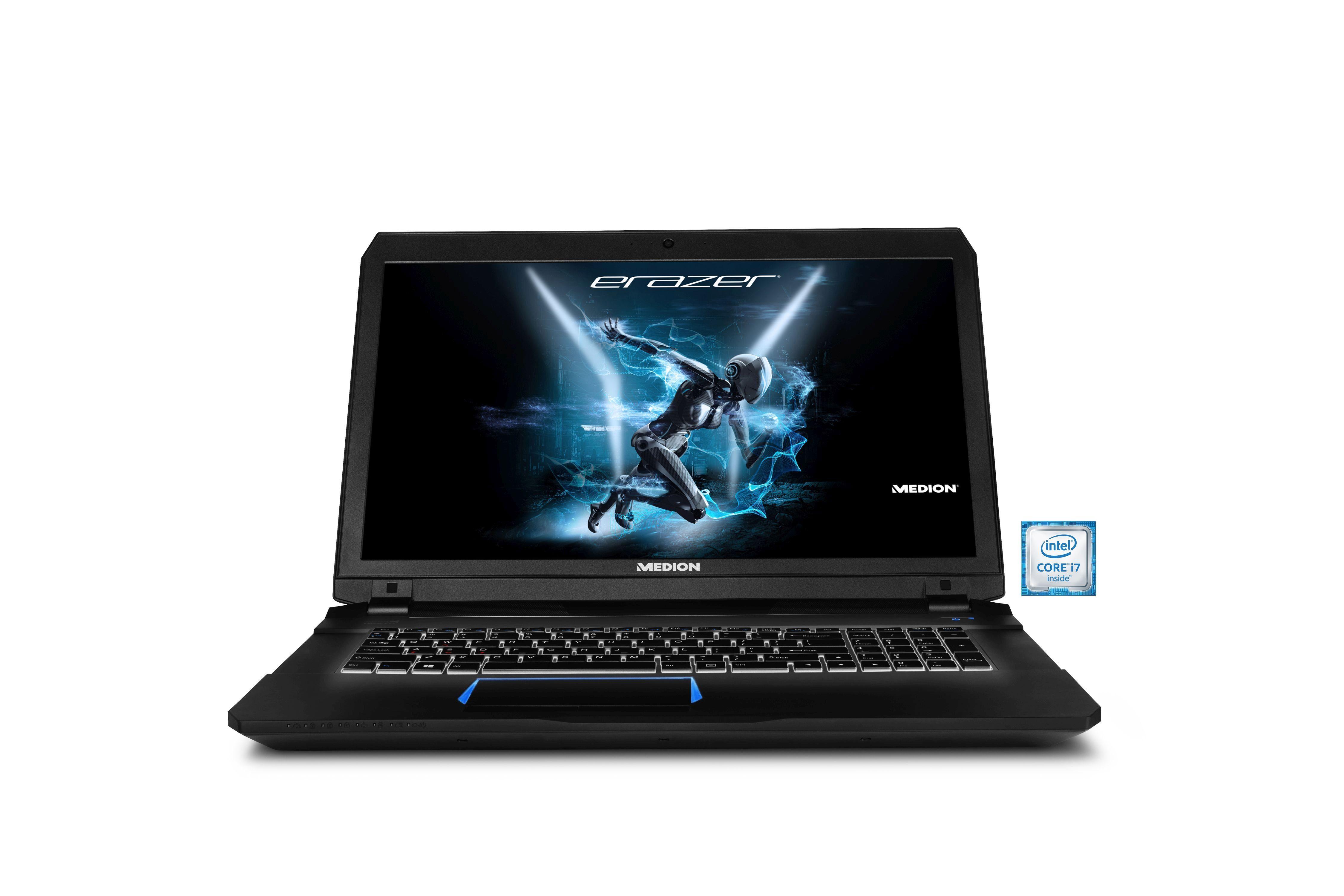 MEDION® Erazer X7843 Gaming-Notebook »Intel Core i7, 43,9cm (17,3''), 128GB + 1TB, 8GB«