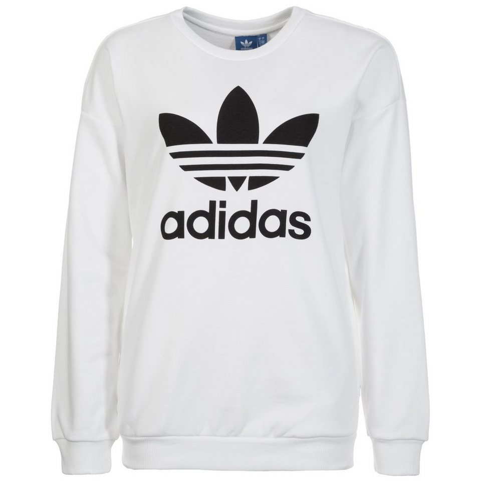 adidas originals sweatshirt trefoil crew kaufen otto. Black Bedroom Furniture Sets. Home Design Ideas