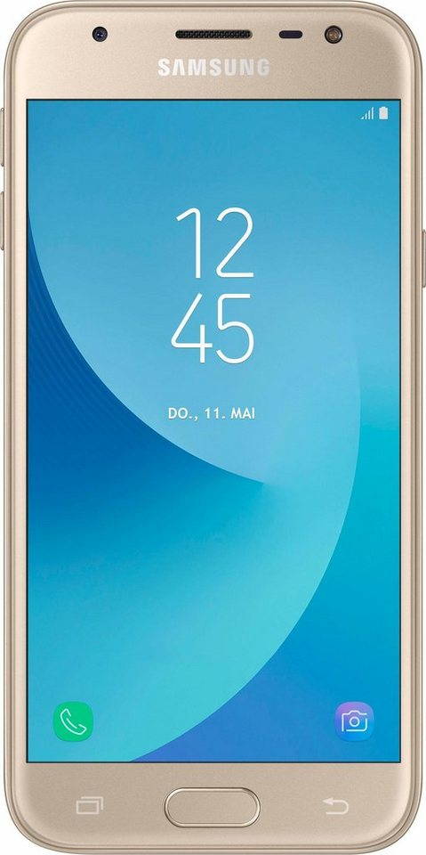samsung galaxy j3 2017 duos smartphone 12 7 cm 5 zoll display lte 4g android 7 0 online. Black Bedroom Furniture Sets. Home Design Ideas