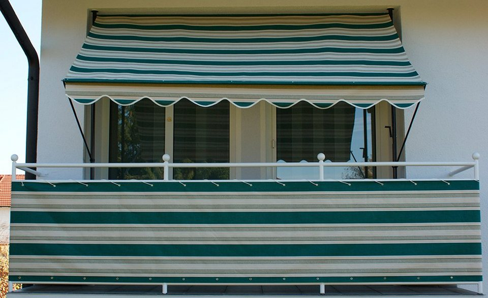 angerer freizeitm bel wind und sichtschutz nr 8700 gr n beige l nge nach ma in 2 h hen. Black Bedroom Furniture Sets. Home Design Ideas