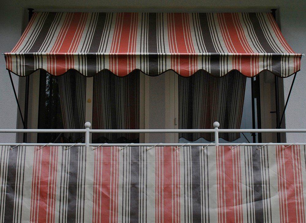 ANGERER FREIZEITMÖBEL Wind- und Sichtschutz »Nr. 5100«, rot/beige/braun, Länge nach Maß, in 2 Höhen | Garten > Zäune und Sichtschutz | Angerer Freizeitmöbel