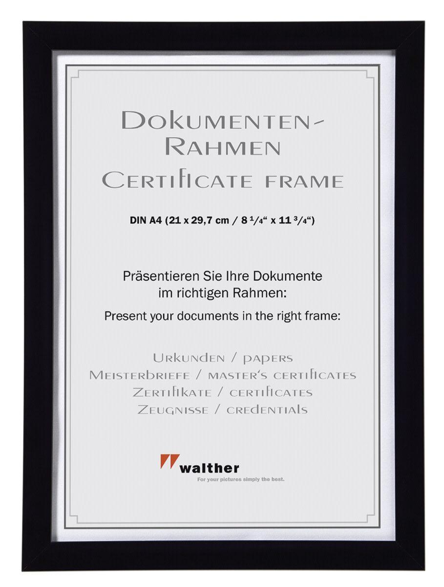 Walther Bilderrahmen »Shades 21x29,7 Kunstst. Dokumentenrahmen JC130B«