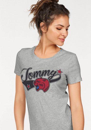 Tommy Hilfiger Rundhalsshirt Tommy Panter Tee, cooler Frontprint