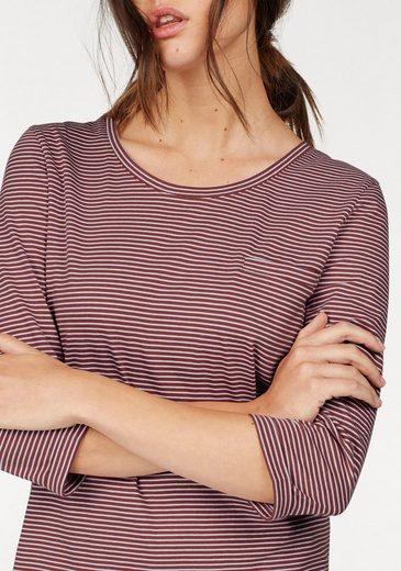re.draft Rundhalsshirt, mit kleiner Brusttasche