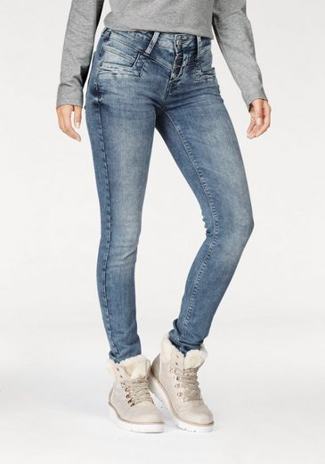 Glücksstern Stretch-Jeans Merle, mit halb verdeckter Knopfleiste