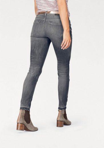 Marc O'Polo Stretch-Jeans Skara cropped, mit coolen Destroyed Effekten