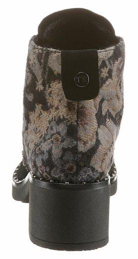 TINE'S Schnürstiefelette, mit modischer Stickerei