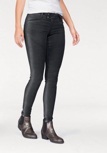 Glücksstern Stretch-Jeans Nina, im Biker-Look