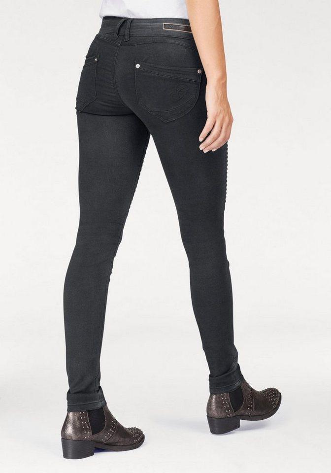 gl cksstern stretch jeans nina im biker look otto. Black Bedroom Furniture Sets. Home Design Ideas
