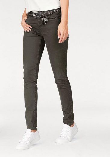Scotch & Soda Tube Pants La Bohemienne Mid Rise Skinny, With A Discreet Used Look
