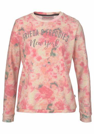 Frieda & Freddies Sweatshirt, im coolen Batik-Look