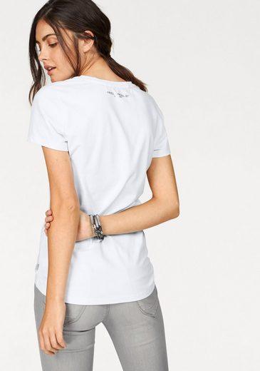 Frieda & Freddies T-Shirt, mit Mops-Motiv und Glitzersteinen